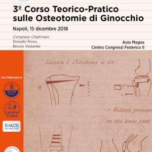 15 DIC 2018 | 3º Corso Teorico-Pratico sulle Osteotomie di Ginocchio